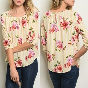 White Yellow Floral Top {love letter collection}